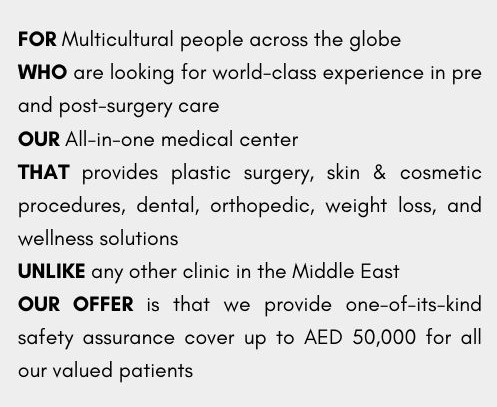 Example of value proposition for medical practice